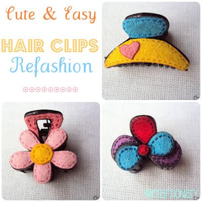 felt hair clips