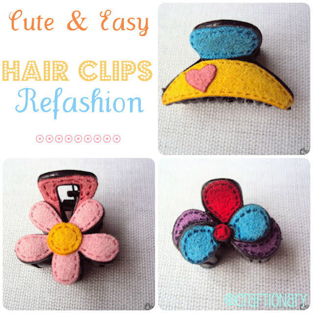 easy and chic DIY felt hair clip tutorial