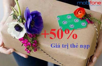 Thách thức tuần Mobifone tặng 50% thẻ nạp cuối năm
