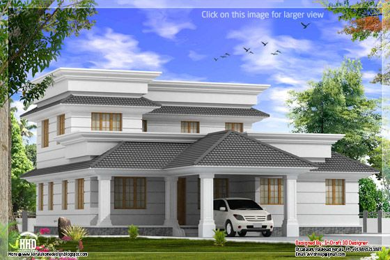 Superb 2162 Square Feet (200 Square Meter) (240 Square Yards) 4 Bedroom Modern  Villa With Courtyard By In Draft 3D Designer, Palakkad, Kerala. House Sq.  Ft. ...