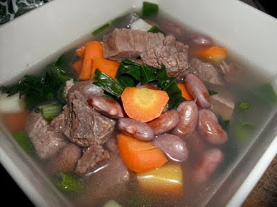 masakan sehat sup ayam kacang merah