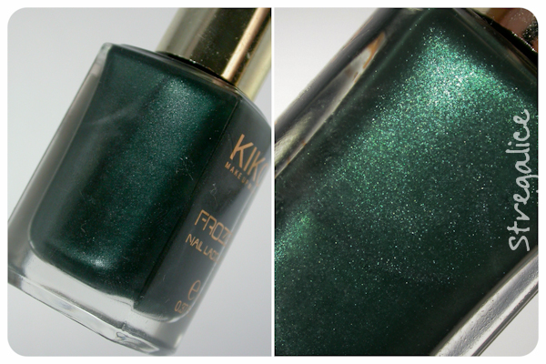 Kiko Frozen 02 Deep Malachite green discontinued shimmer
