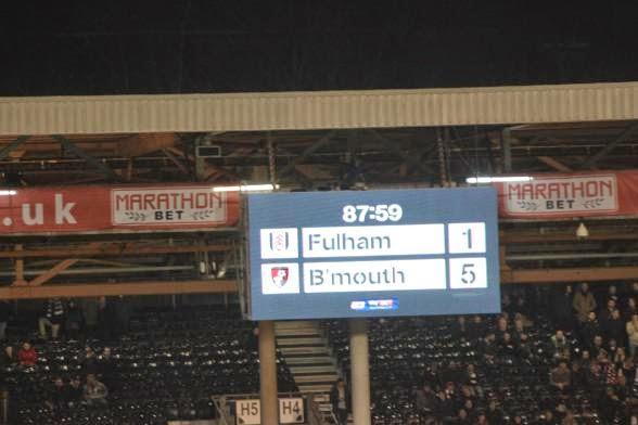 Fulham scoreboard