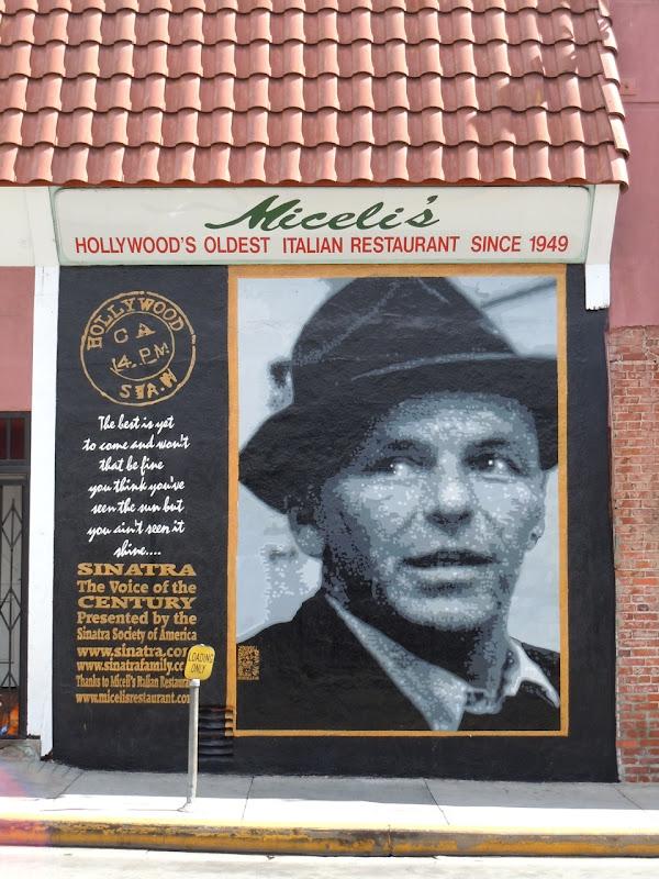 Frank Sinatra mural Hollywood