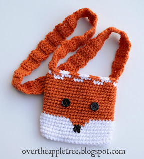 Children's Crochet Fox Purse by Over The Apple Tree