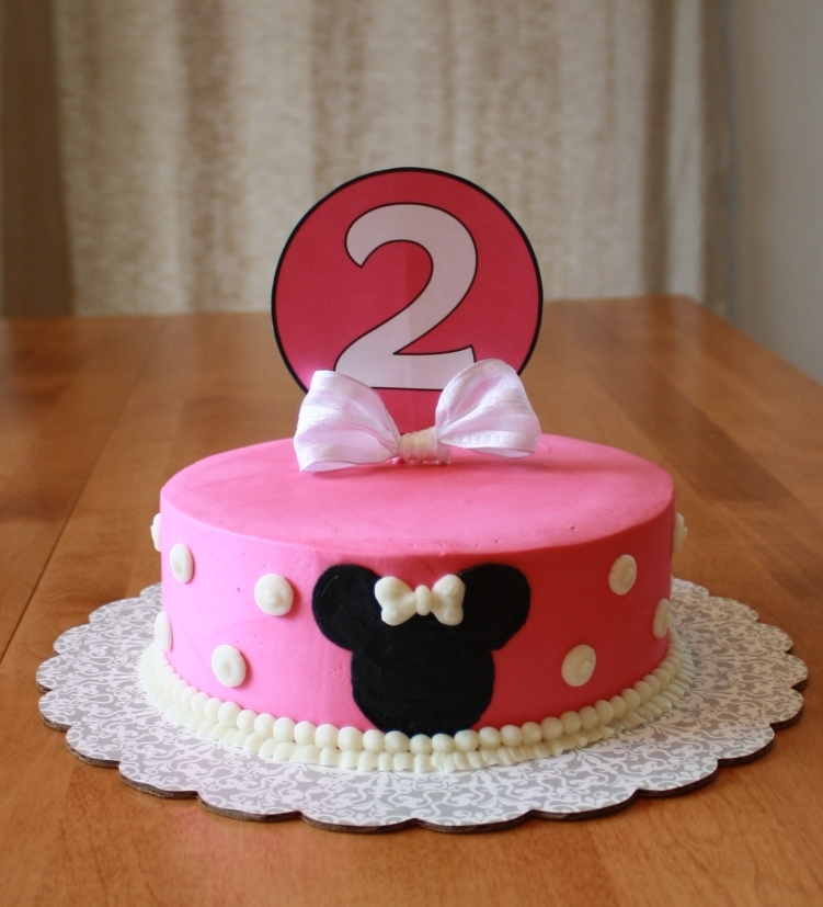 Cake Ideas For 2nd Birthday Girl : Party Cakes: Minnie Mouse Cake