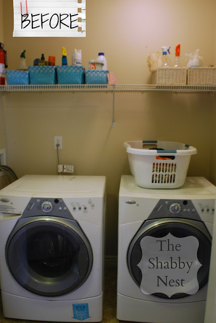 The Shabby Nest: Laundry Room Reveal BEFORE