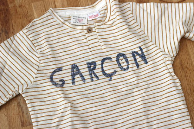 Baby boy yellow stripe top from Zara baby boy