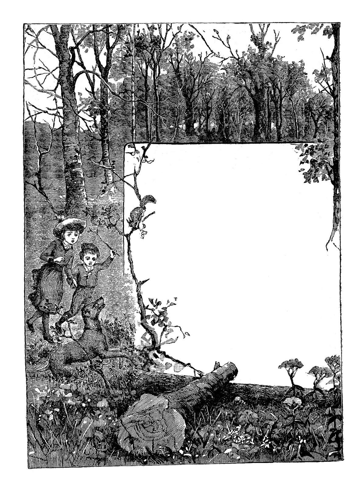 free printable frame digital stamps nature and wild life digital frame