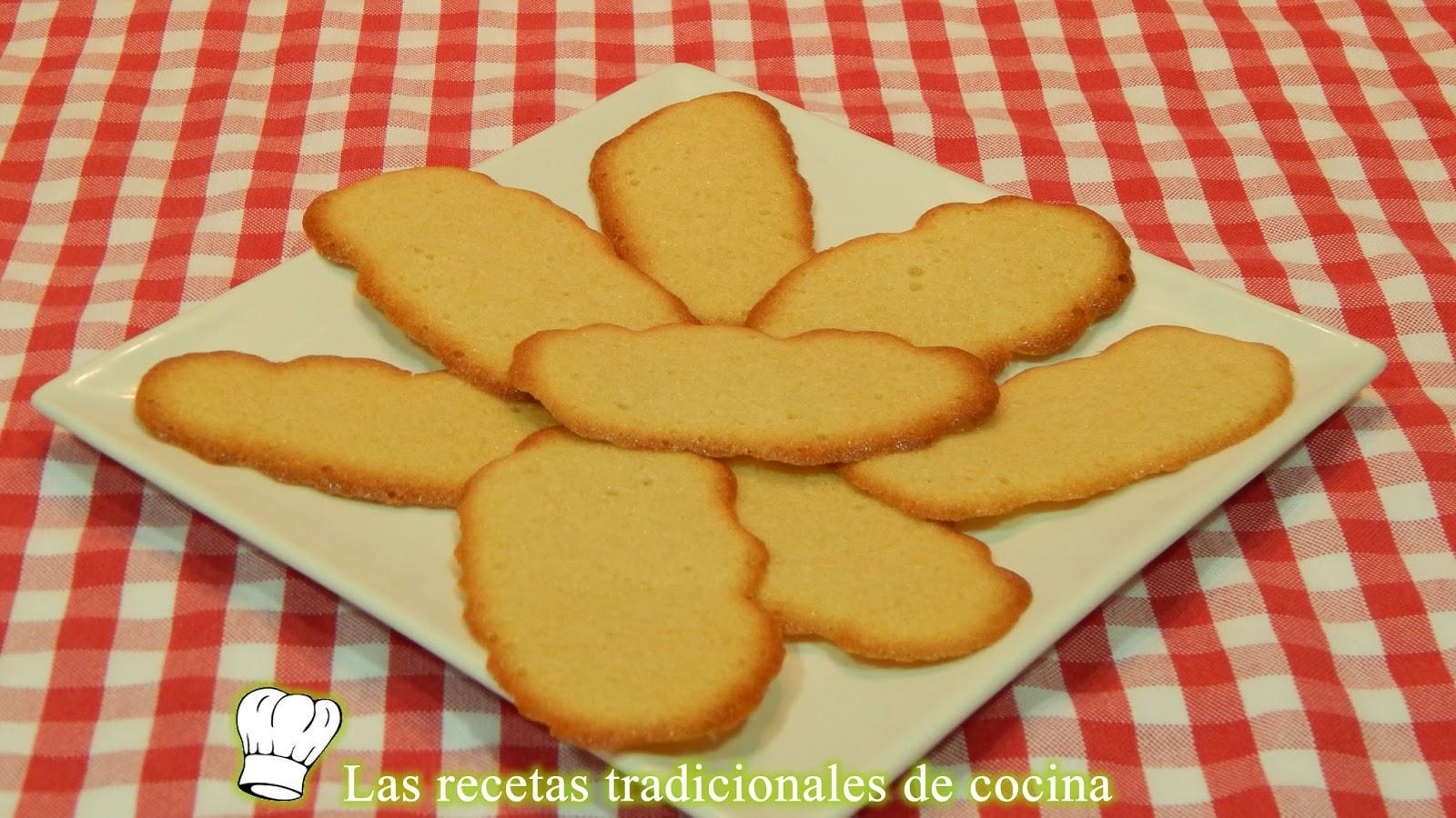 Receta fácil de galletas de vainilla o lenguas de gato - Recetas de ...