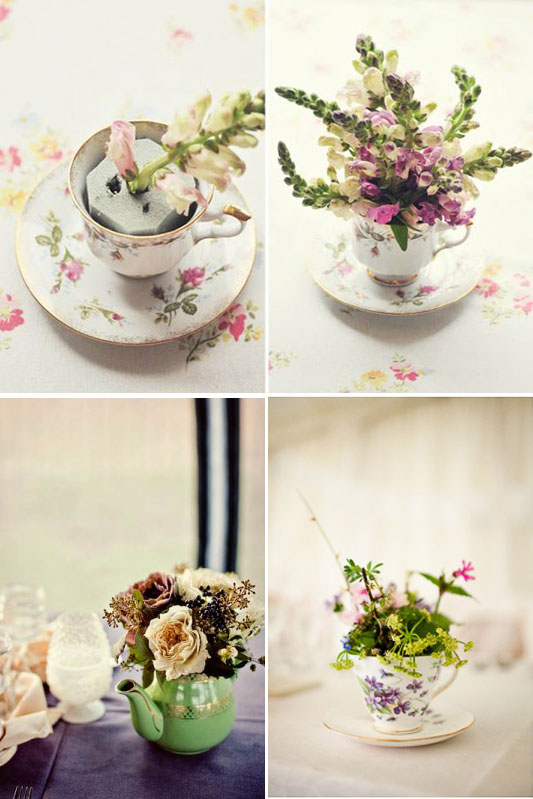 I do it yourself diy project teacup centerpieces