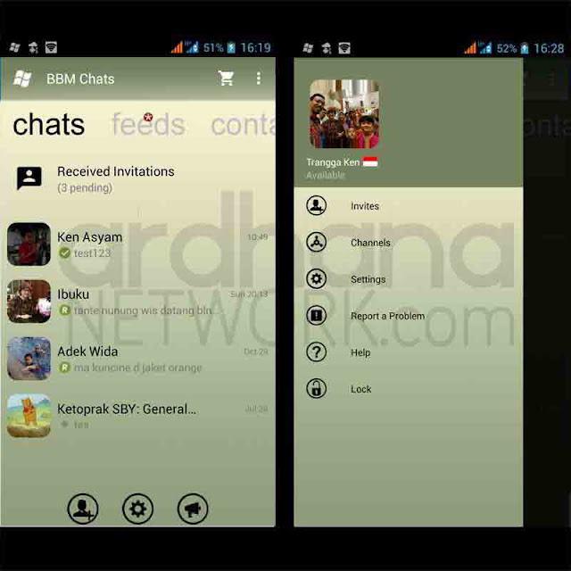 Preview BBM Windows Phone Monochrome V2.10.0.35