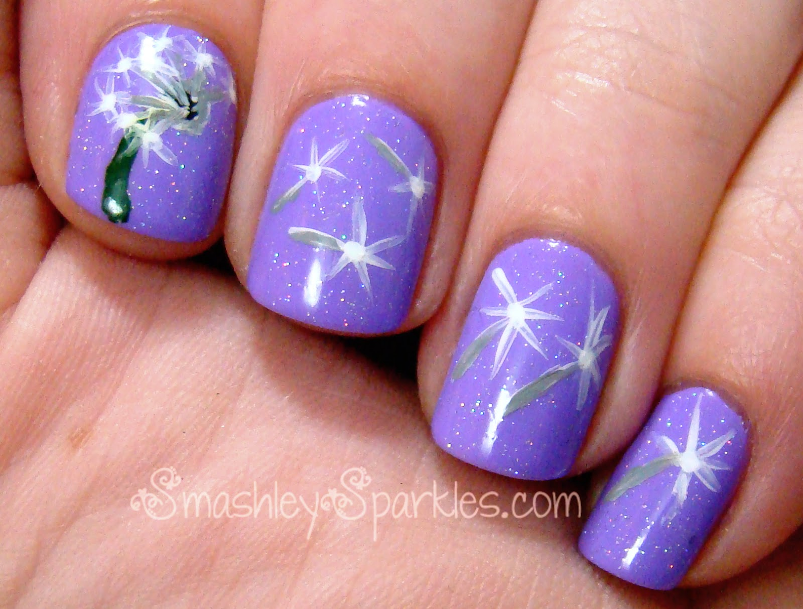 Dandelion Nail Art Design | Nails Gallery