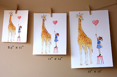 http://phyllisharrisdesigns.bigcartel.com/product/nursery-wall-art-giraffe-and-little-girl-children-s-room-decor