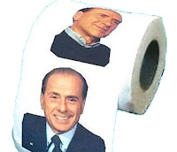 Toilet rolls with Silvio Berlusconi face that smile at you