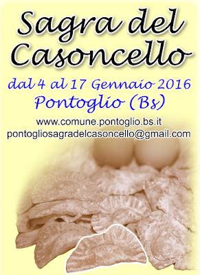 Sagra del Casoncello  dal 4 al 17 gennaio Pontoglio (BS) 2016