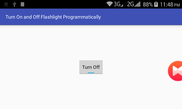 Android Example: Turn On and Off Camera LED / Flashlight Programmatically