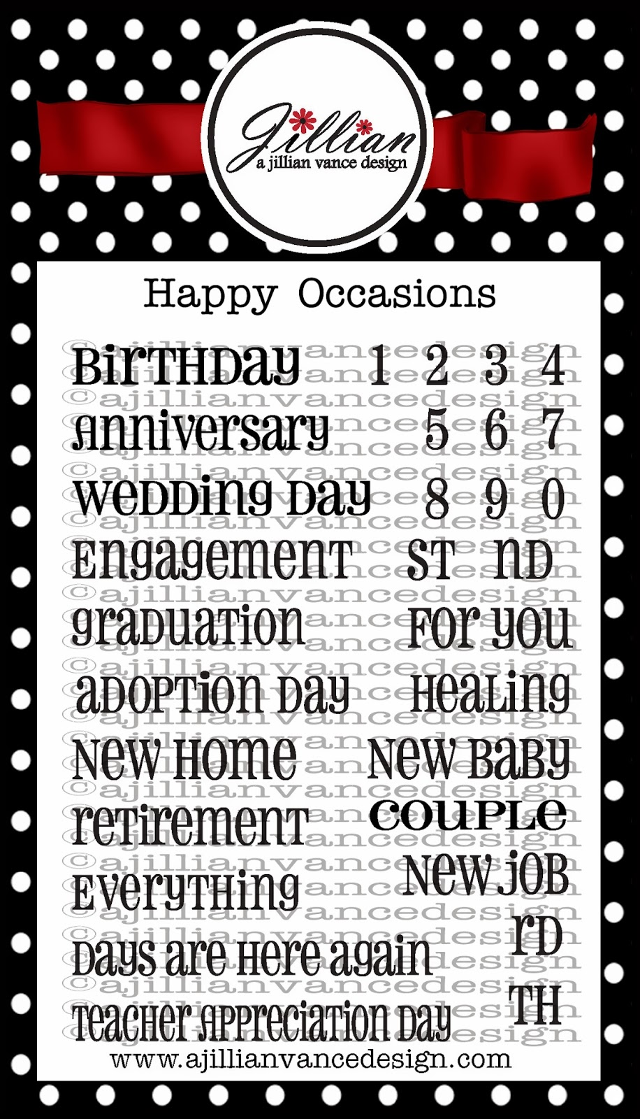 Happy Occasions Stamps