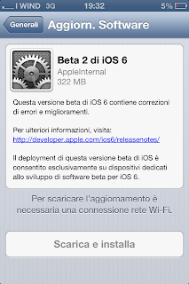 Second beta of iPhone OS 6