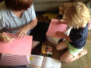 NaNa and Emma drawing