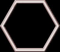 Moldura hexagonal - Criação Blog PNG-Free