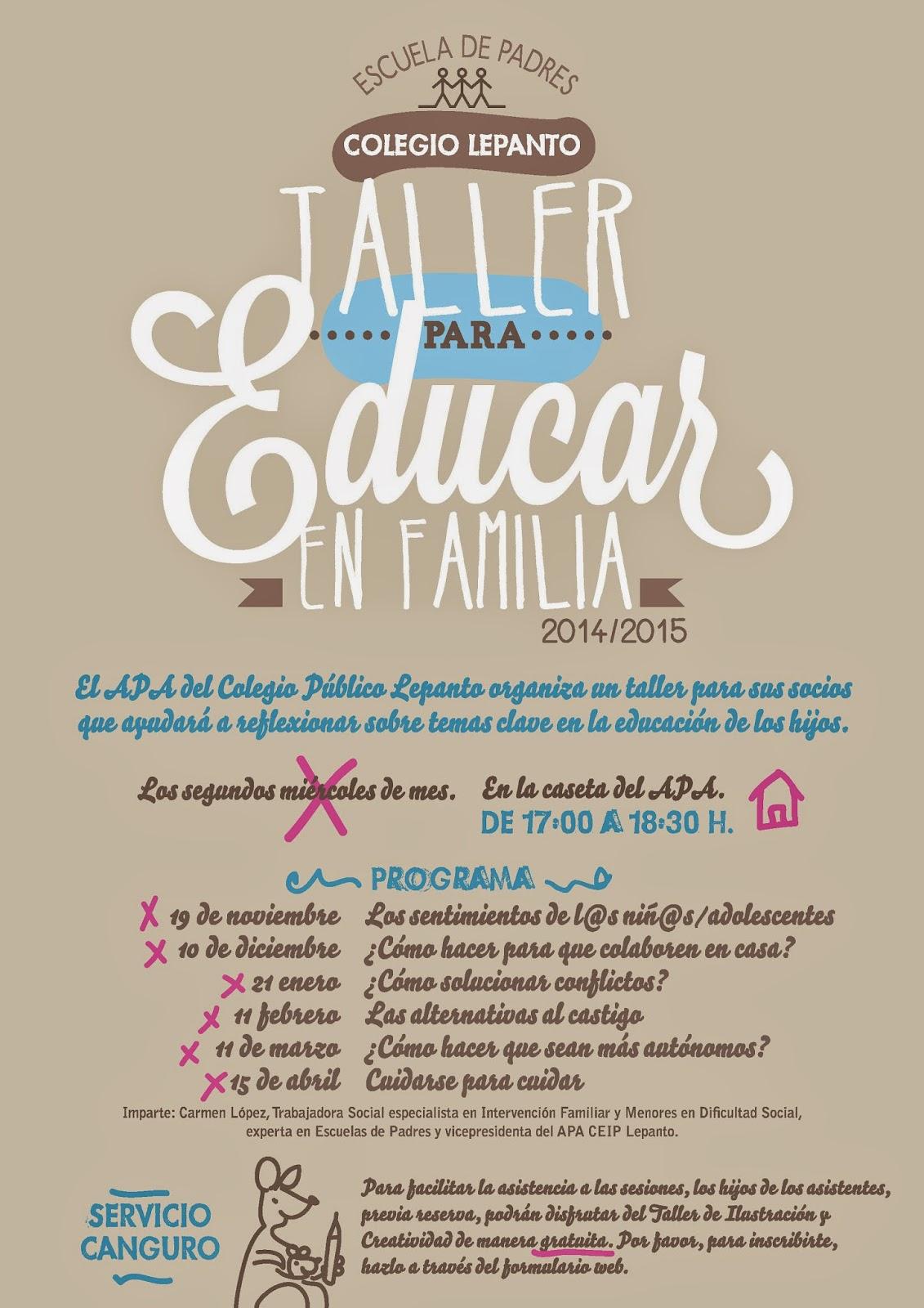 Cartel Escuela de Padres 2014-2015