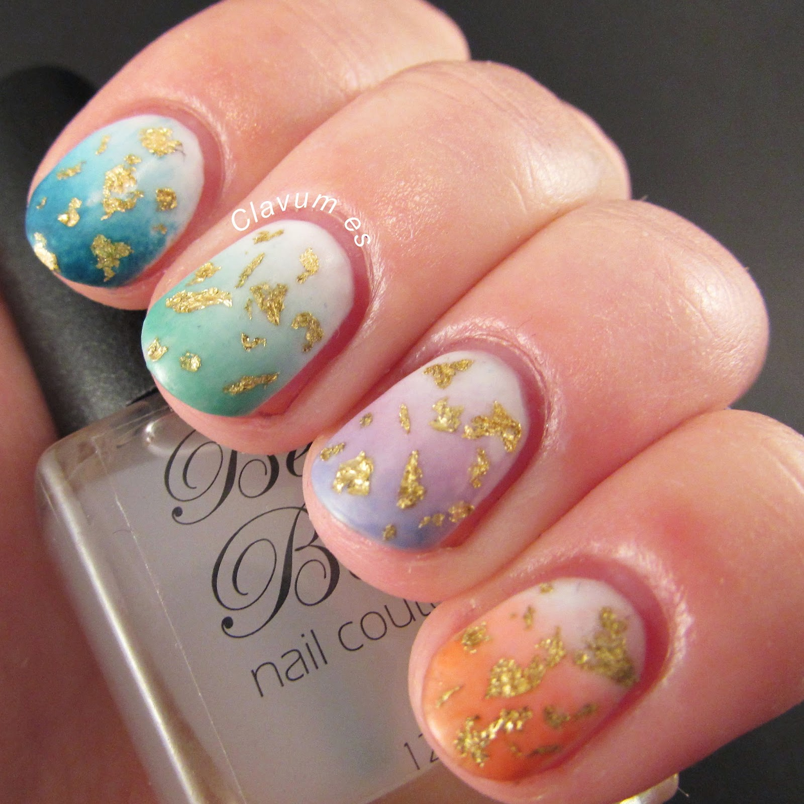 Gold Leaf Nail Art