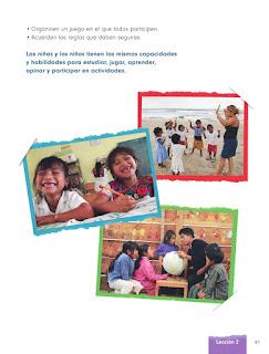 Apoyo Primaria Formación Cívica y Ética 1er grado Bloque 3 Lección 2 Cómo jugaría a... si pudiera participar