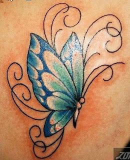 Tatoos y Tatuajes de Mariposas, parte 2