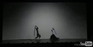 Extraordinario vídeo de un espadachín contra una sombra