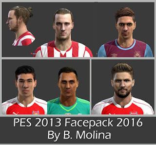 Pes 2013 Facepack 2016 By B. Molina