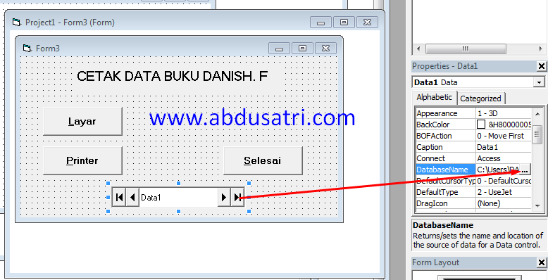 cetak data ke printer di VB
