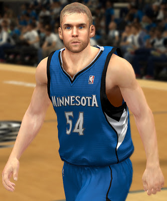 NBA 2K13 Greg Stiemsma Cyberface with Beard