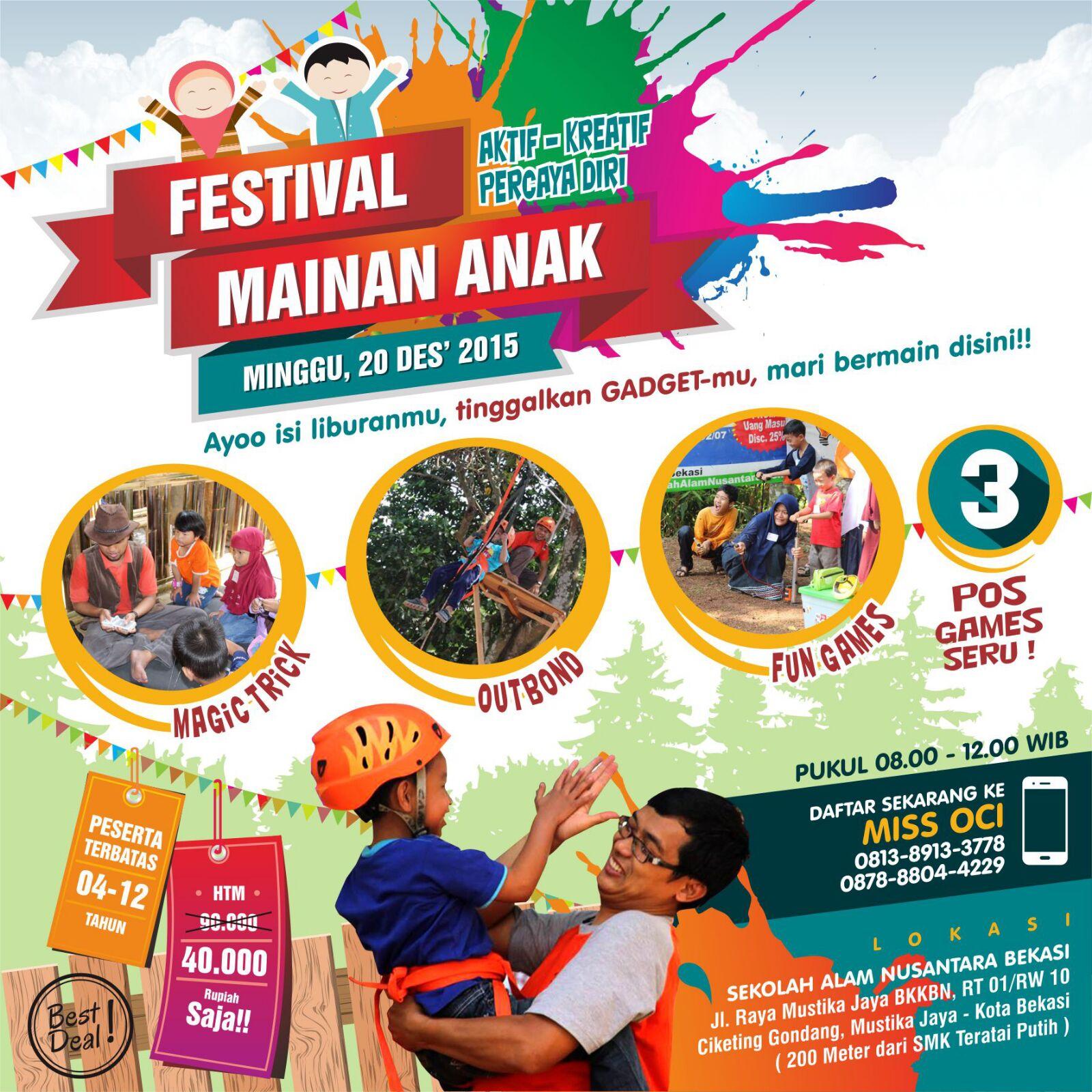FESTIVAL MAINAN ANAK Ahad 20 Des 2015