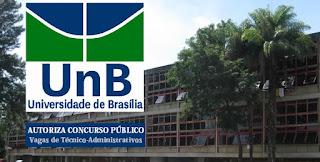 UnB Autoriza Concurso na carreira Técnico Administrativo.