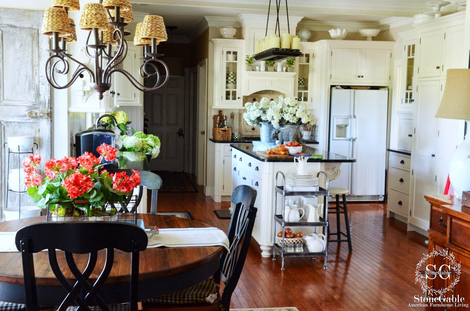 the summer farmhouse kitchen stonegable. Black Bedroom Furniture Sets. Home Design Ideas