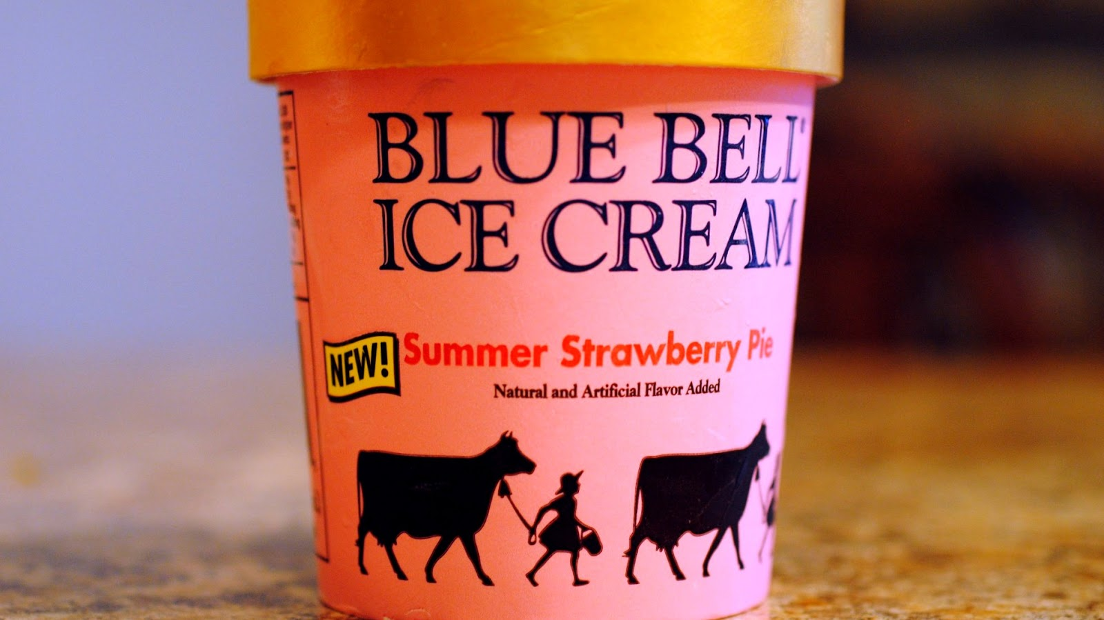 food and ice cream recipes REVIEW Blue Bell Summer Strawberry Pie