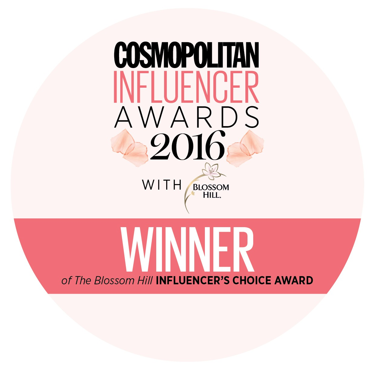 WINNER INFLUENCERS CHOICE AWARD 2016!