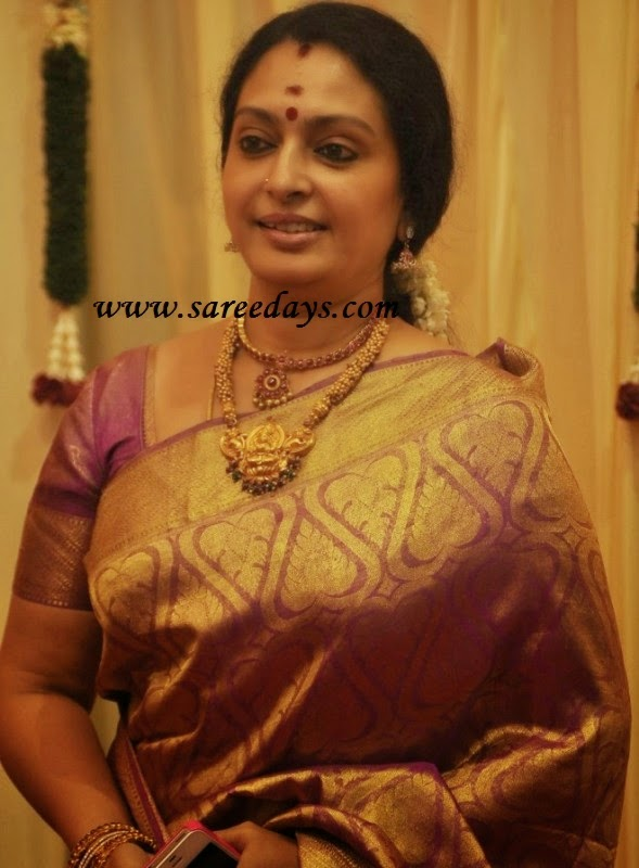 Latest saree designs seetha in gold silk saree checkout seetha in gold silk saree with zari work and zari border and paired with matching half sleeves blouse altavistaventures Image collections