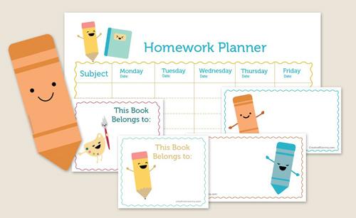 school homework planner