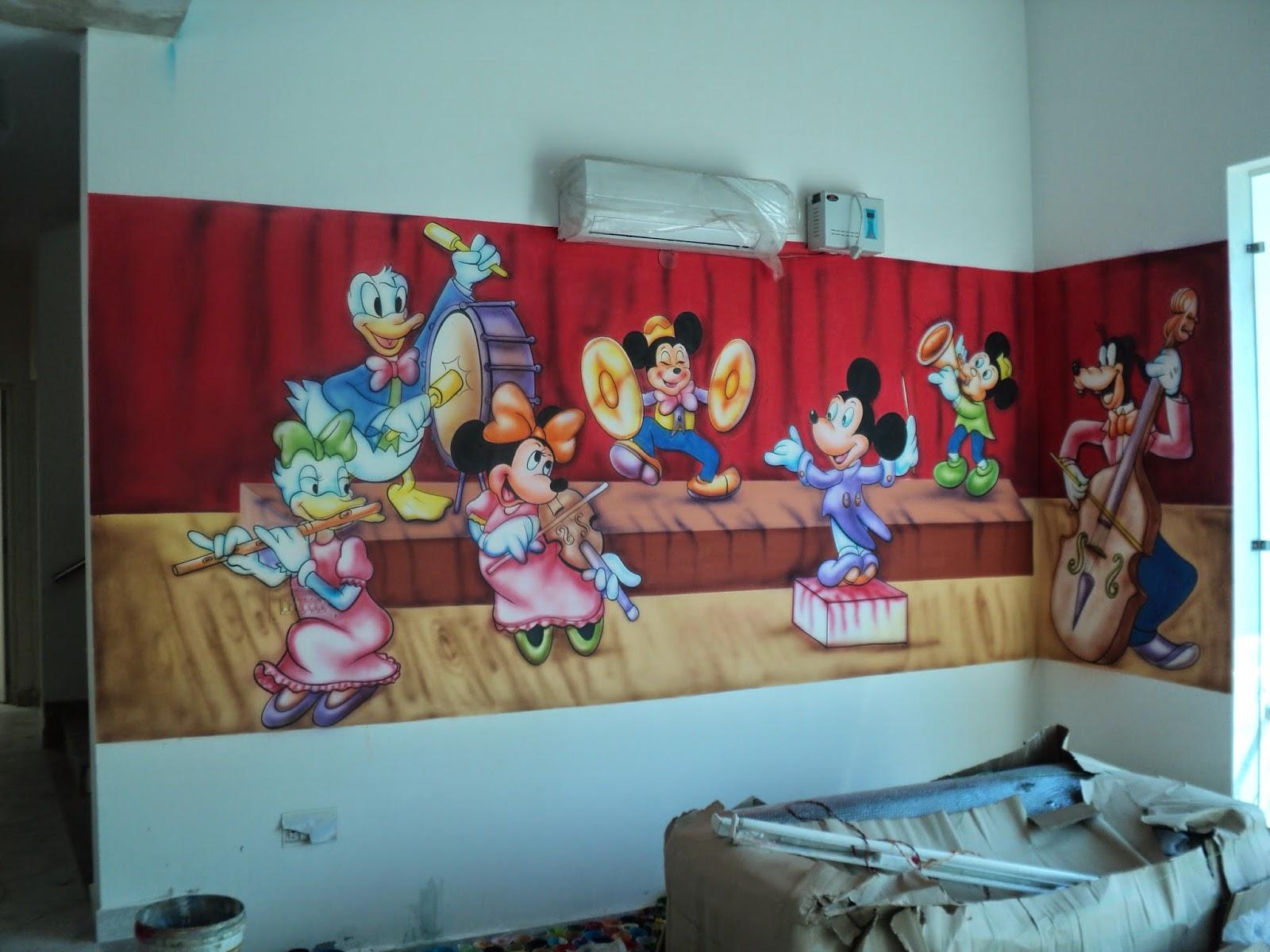 Play School Wall Painting 3d Wall Painting Cartoon