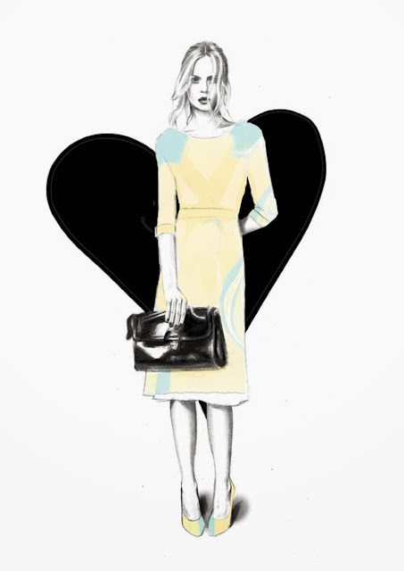 Fashion Illustration Sharntay Watercolor Graphite Tumblr