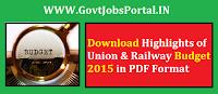 Union & Railway Budget 2015-16
