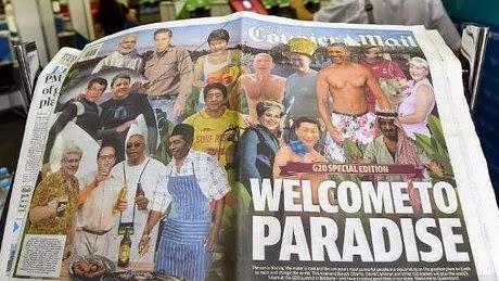 Gambar Jokowi di Tabloid Australia Pakai Celemek KTT G20 Brisbane