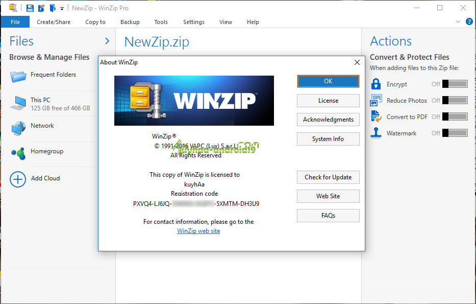 Winzip pro final like winrar good to use.