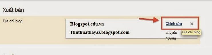 Hướng dẫn bỏ bỏ www trước tên miền trong Blogspot