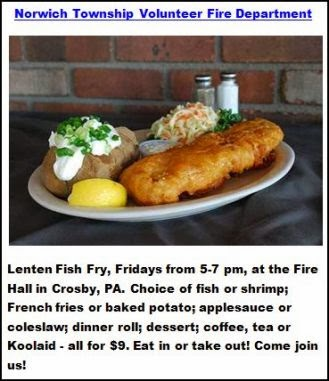 3-14 Fish Fry At Crosby Firehall