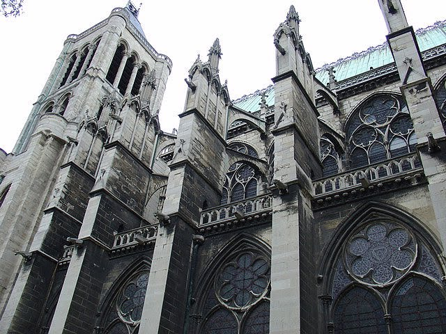 saint denis 39 basilica in paris magnificent gothic cathedral steeped in the history of france. Black Bedroom Furniture Sets. Home Design Ideas