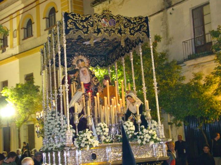 Palio Virgen de la o hermanas Antúnez 1880 Virgen de la Piedad Santo Entierro Jerez de la Frontera
