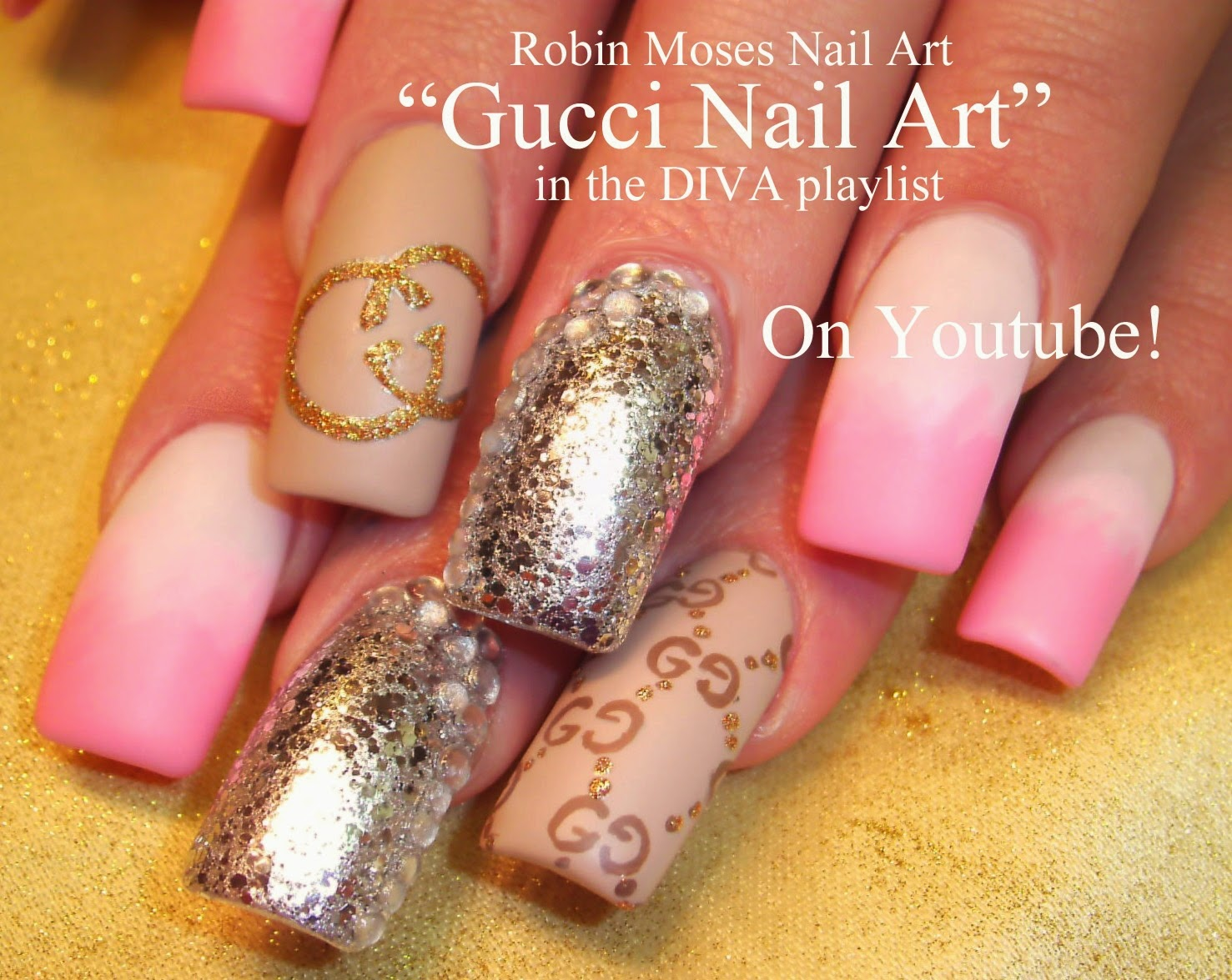 Nail Art By Robin Moses Gucci Nail Art Gucci Nails Designer